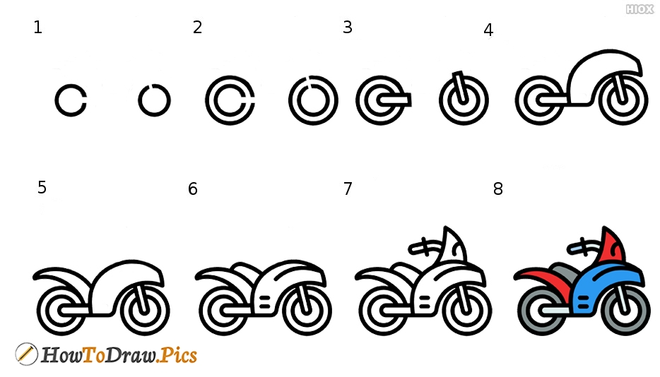 How To Draw Sport Motor Cycle