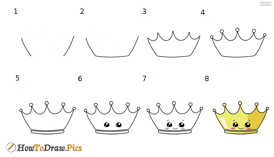 How To Draw Super Cute Crown