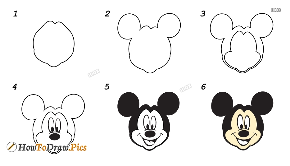 How To Draw Disney Characters | Simple Step By Step Images