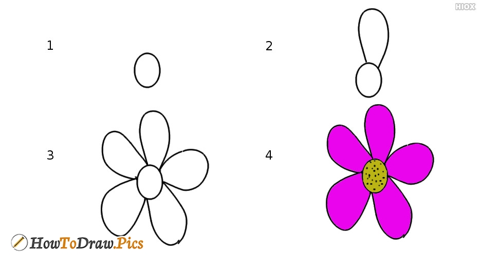 How To Draw Flower Pictures | Step By Step Tutorial