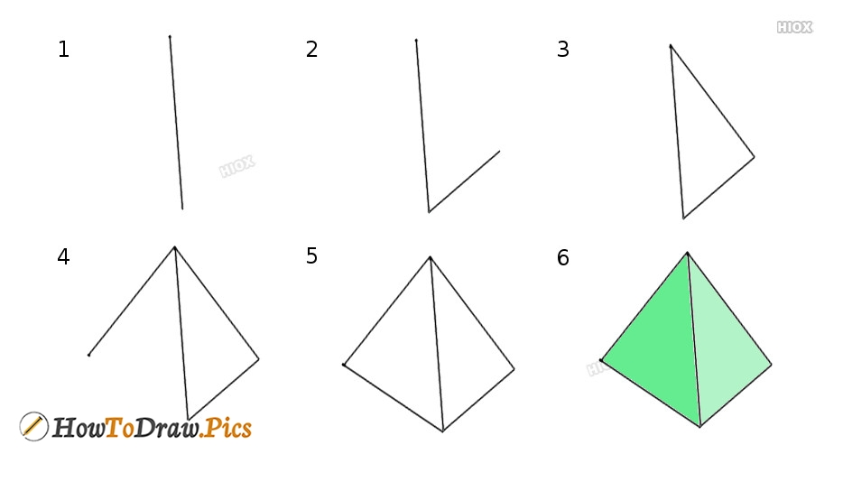 How To Draw Triangle Step by Step Pictures