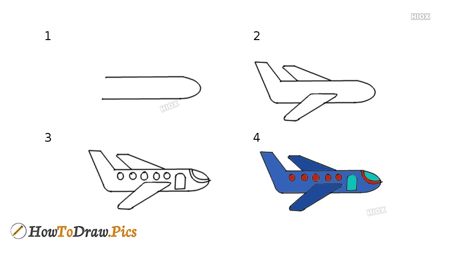 How To Draw A Airplane With Images