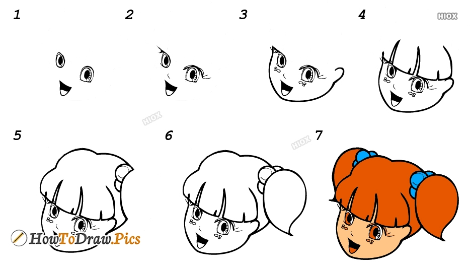 How To Draw A Anime Face