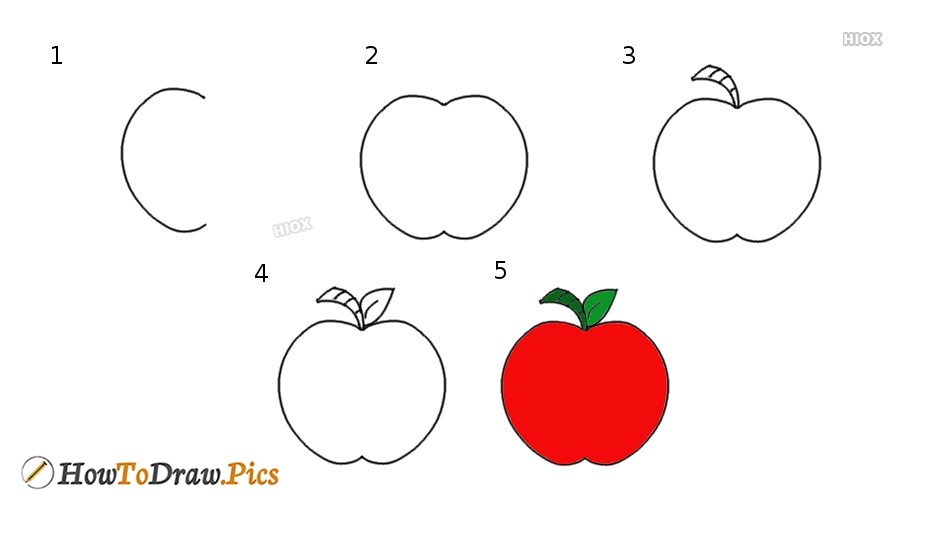 How To Draw An Apple | Step By Step Drawing Tutorial