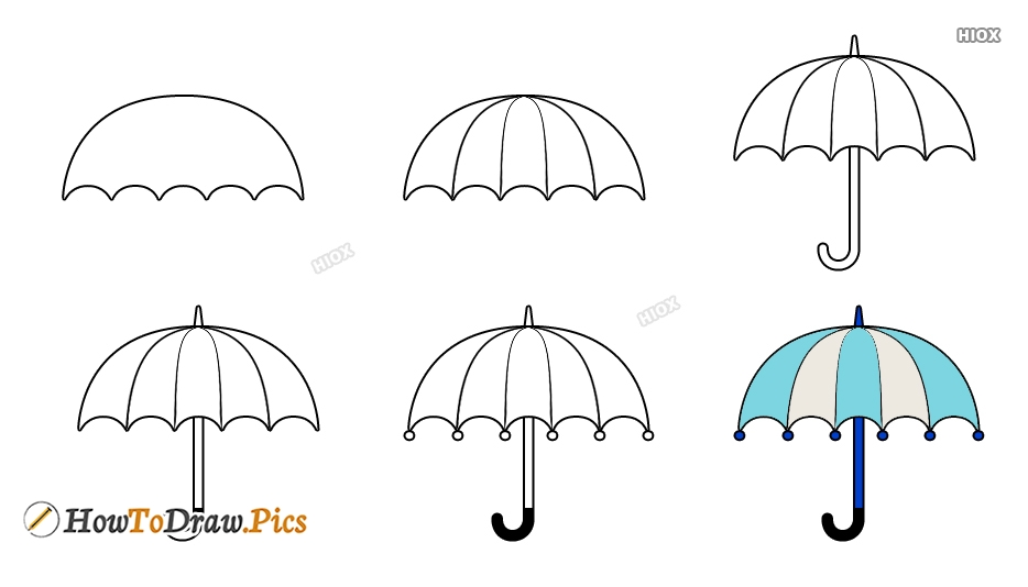 How To Draw A Beautiful Umbrella