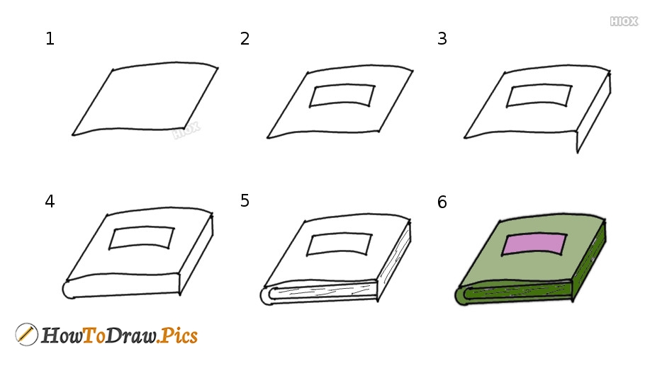 How To Draw Stationery Items Step by Step Pictures
