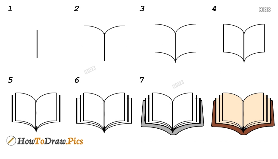 How To Draw A Open Book Pictures