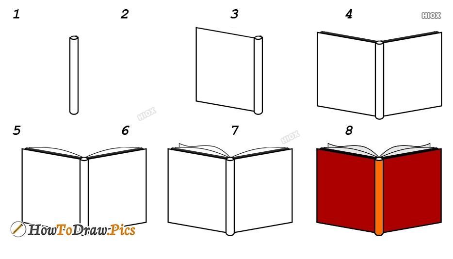 How To Draw A Book Cover Step By Step Images