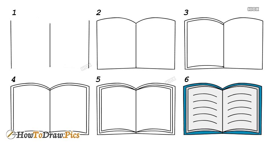 How To Draw A Book Cartoon
