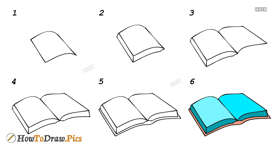 How To Draw A Book Step By Step Easy