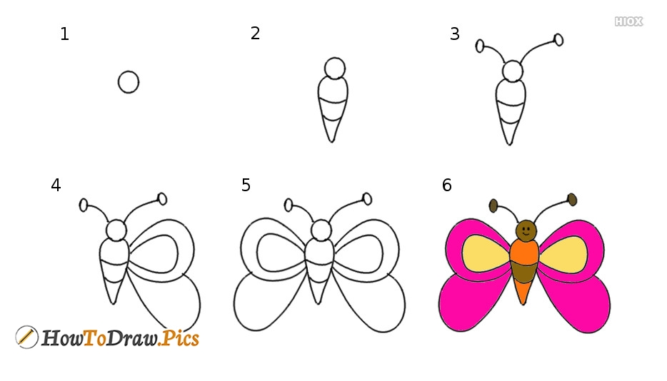 How To Draw A Butterfly | Step By Step Tutorial