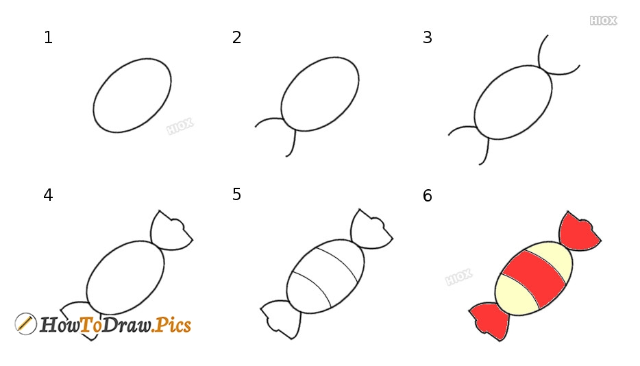 How To Draw Candy Step by Step Pictures