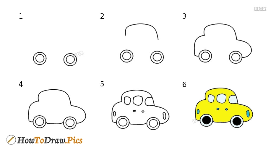 How To Draw Car Step By Step Images