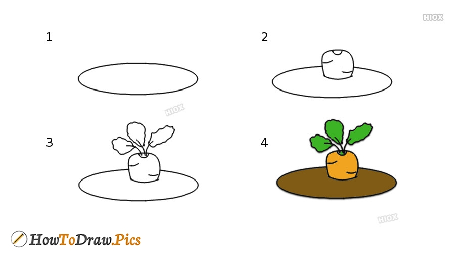 How To Draw A Carrot In The Ground