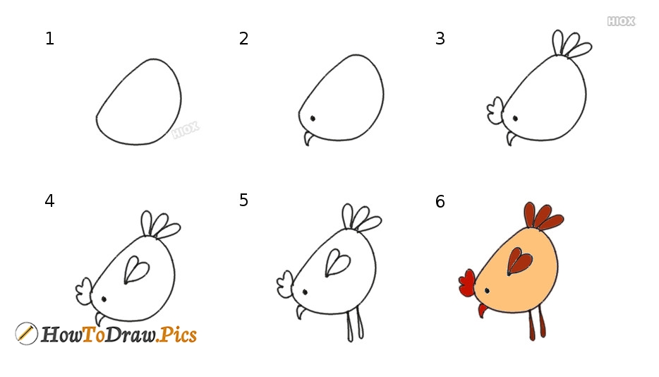 How To Draw A Chicken | Step By Step Drawing
