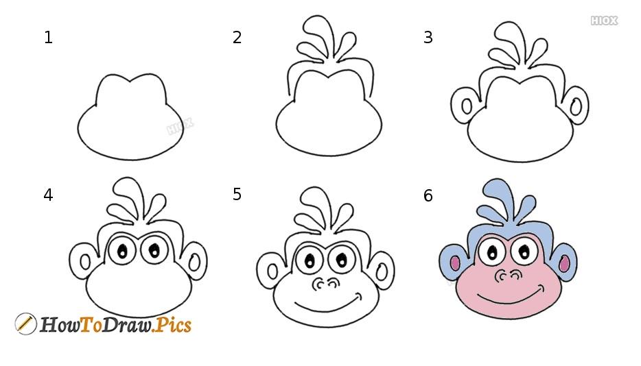 How To Draw A Dora Monkey