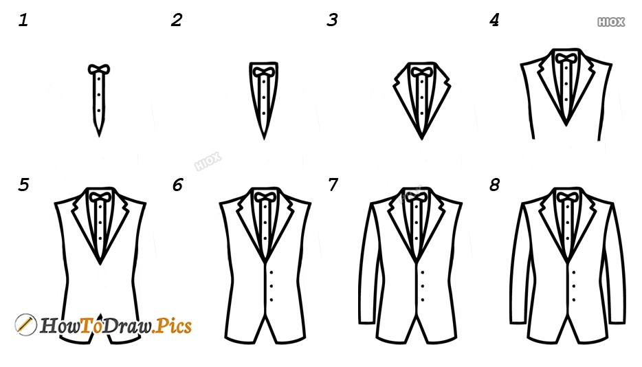 How To Draw A Dress Step By Step Images