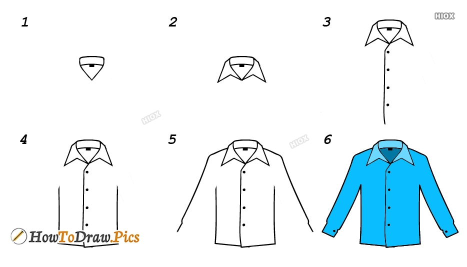 How To Draw A Shirt Pictures
