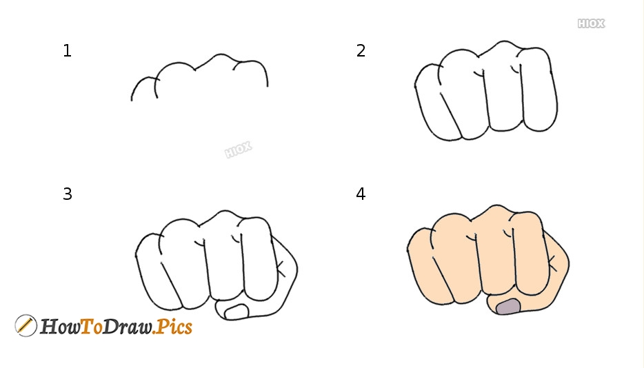 How To Draw A Fist - Easy Step By Step Drawings