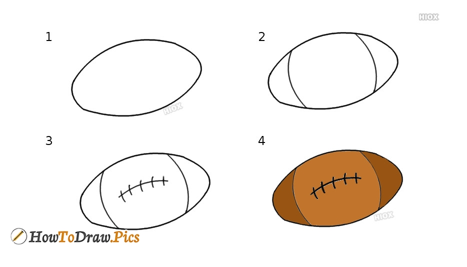 How To Draw A Football Howtodraw Pics