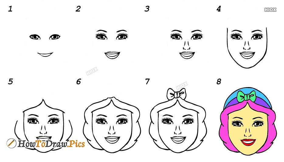 How To Draw Girl Face Step By Step Images