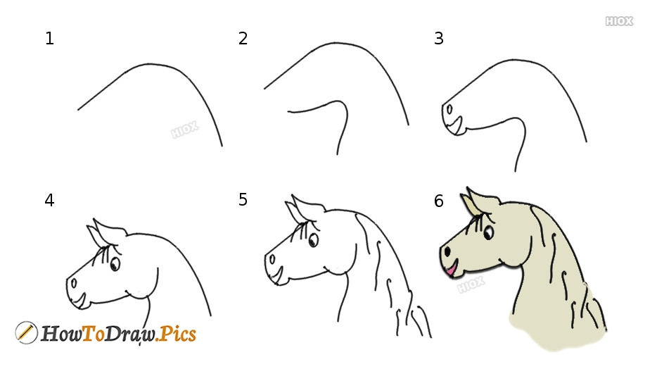 How To Draw A Horse | Step By Step Tutorial For Kids, Beginners