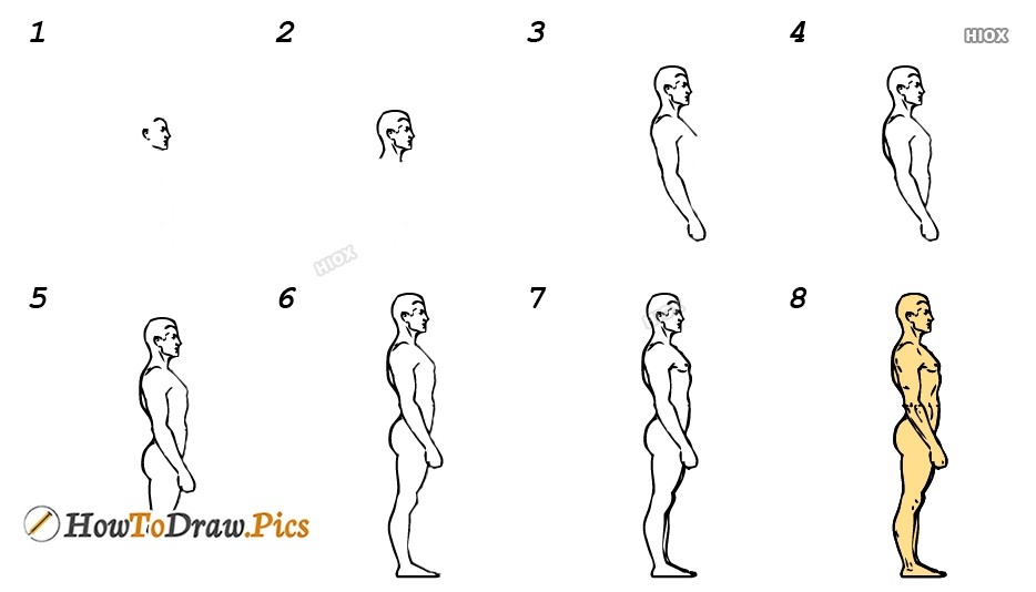 How To Draw A Human Step By Step Images