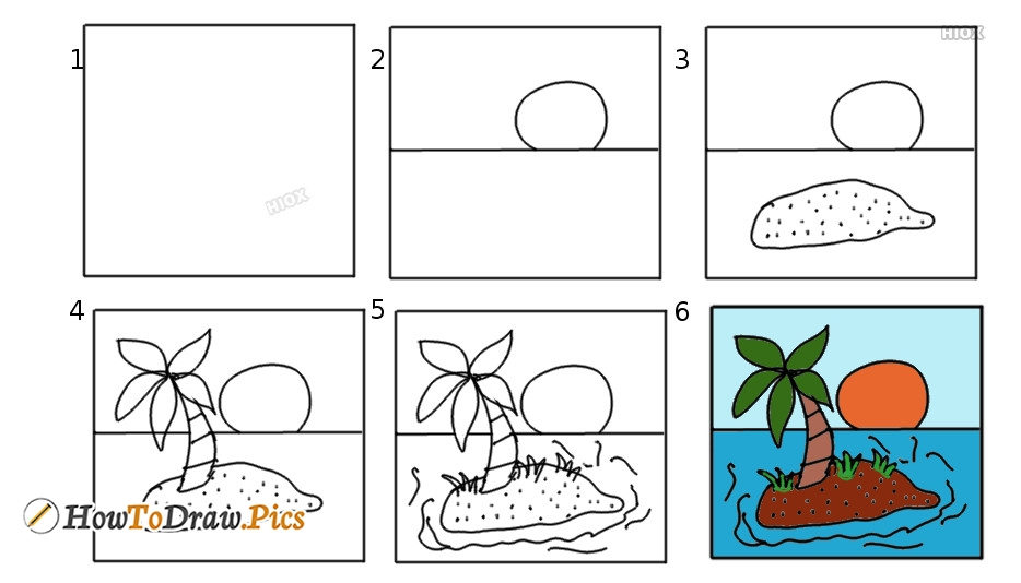 How To Draw A Palm Tree | Easy Step By Step Drawing