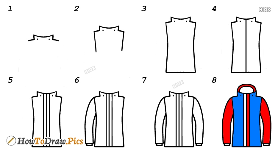 How To Draw A Jacket Step By Step Images