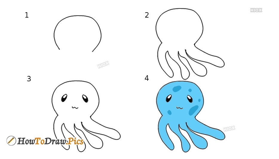 How To Draw Jellyfish Step by Step Pictures