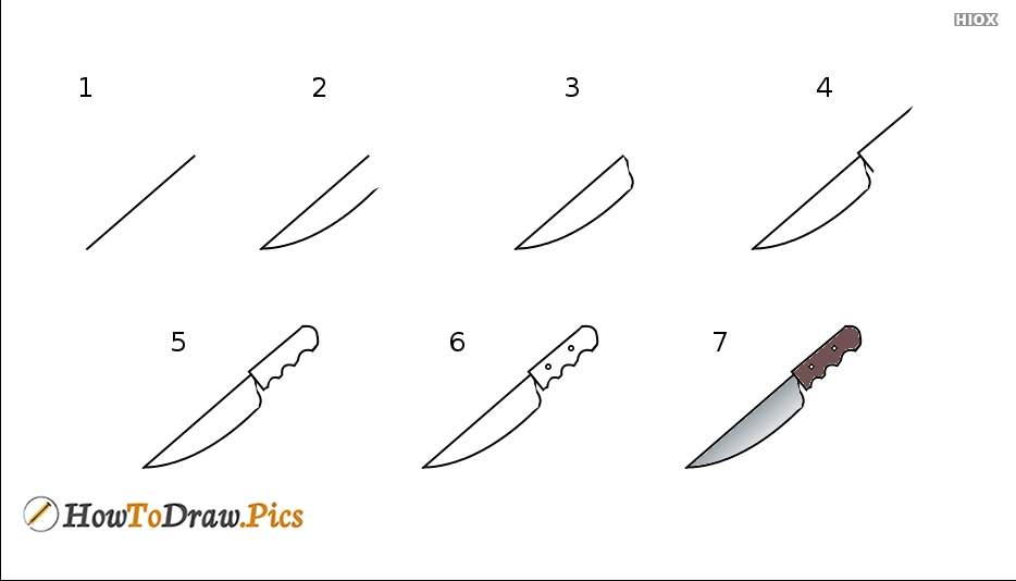 How To Draw A Knife Easy Step By Step Drawing Tutorials
