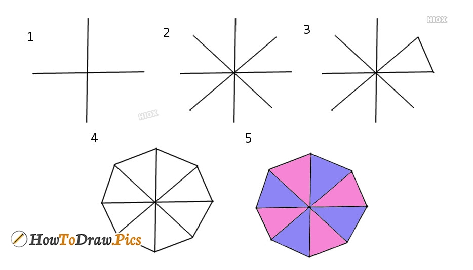 How To Draw Octagon Step by Step Pictures