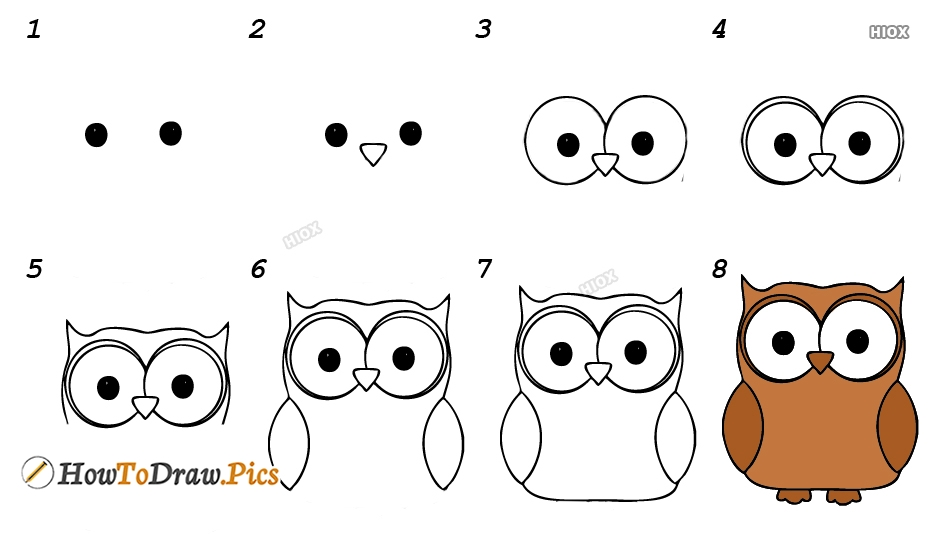 How To Draw A Owl Easy Howtodraw Pics