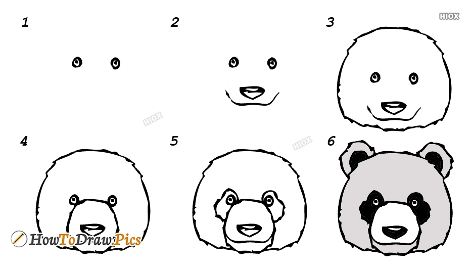 How To Draw A Panda Easy