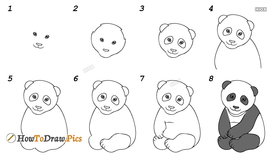 How To Draw A Panda Head