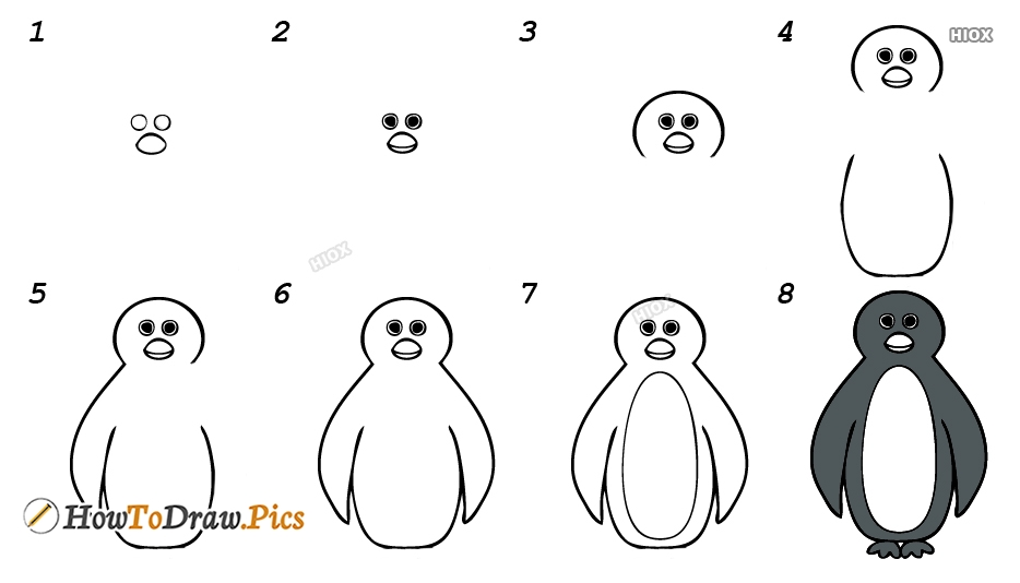 How To Draw A Penguin Realistic