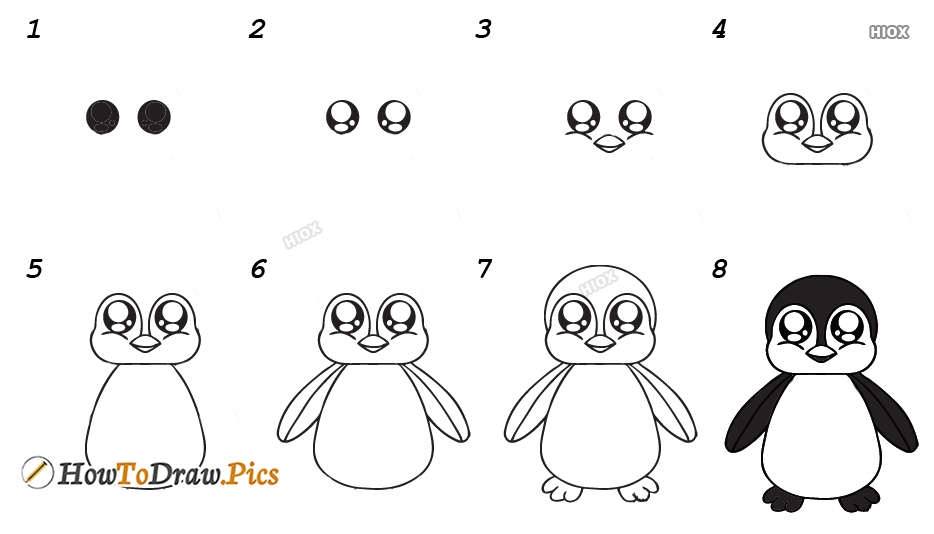 How To Draw A Penguin Kids