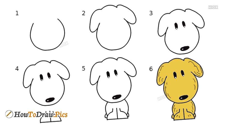 How To Draw Puppy Step by Step Pictures