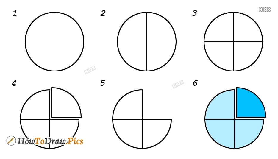 How To Draw A Quarter Circle Step By Step Images