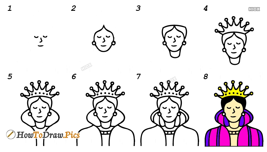 How To Draw A Queen