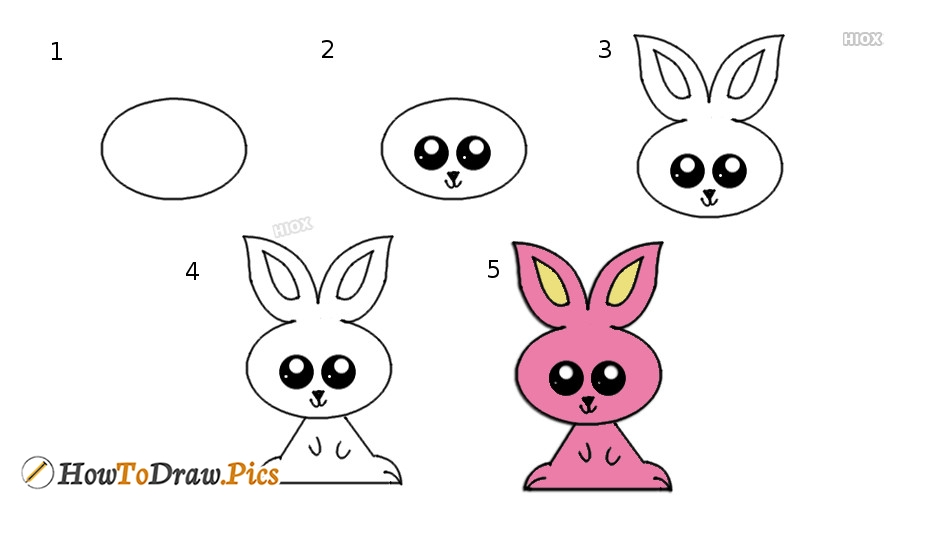 How To Draw A Rabbit Cartoon