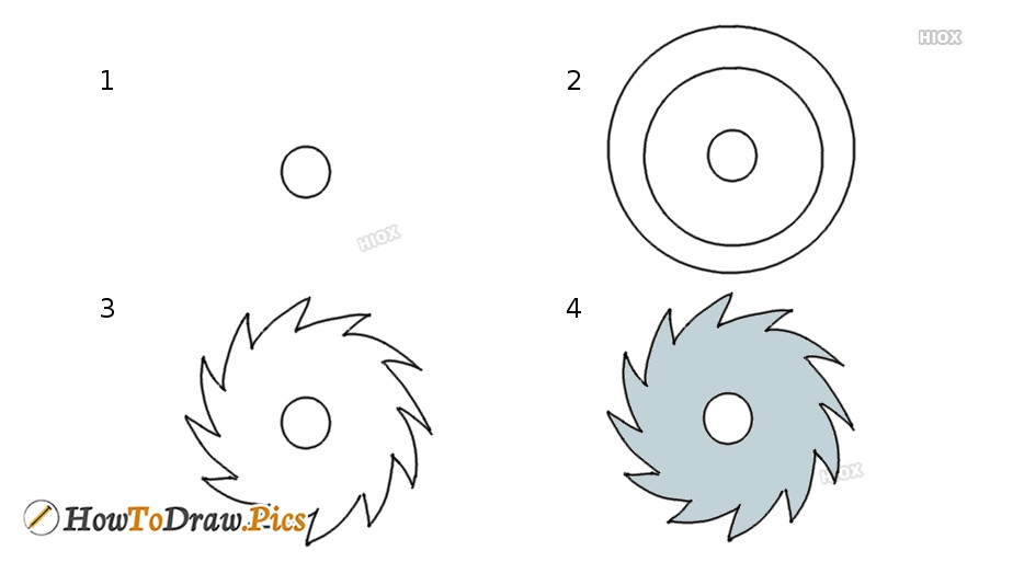 How To Draw A Saw Blade