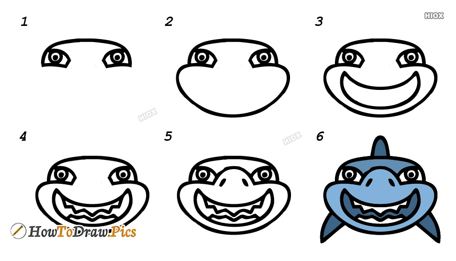 How To Draw A Shark Face