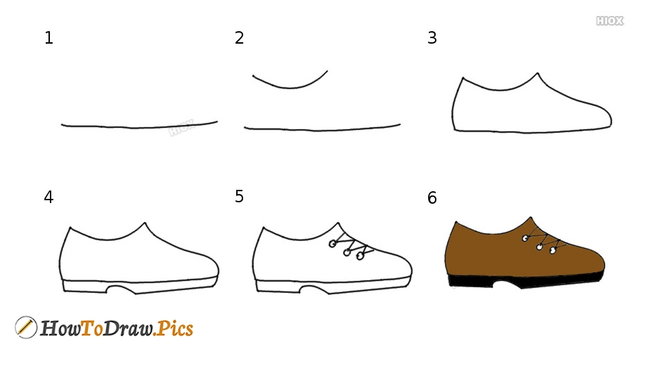 How To Draw Shoes Step By Step Pictures
