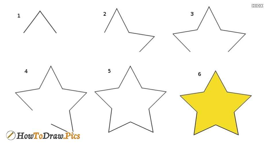 How To Draw Star Picture Step by Step Drawing