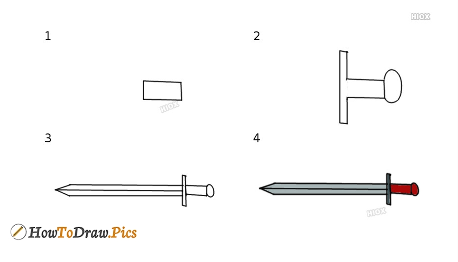 How To Draw Weapons | Step By Step Images