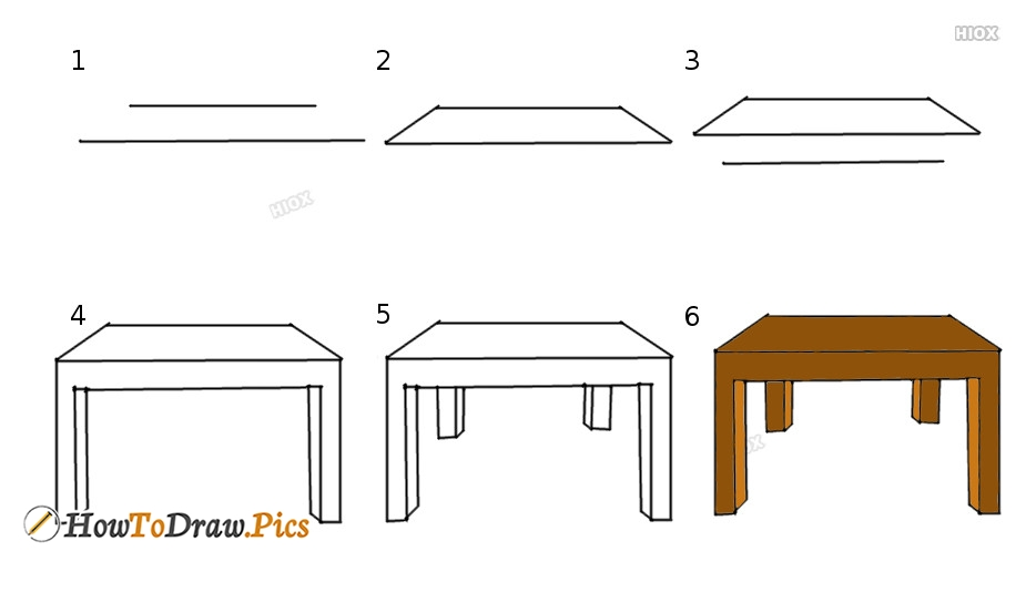How To Draw A Table Howtodraw