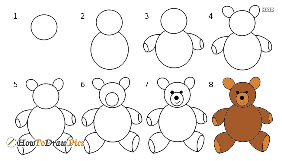 How to draw teddy bear pictures teddy bear step by step drawing lessons