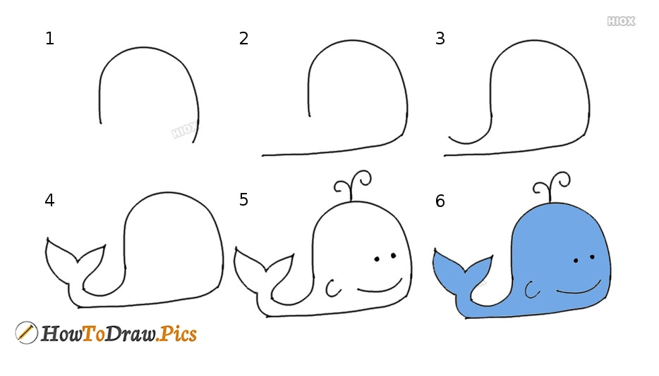 How to draw a whale? Drawing for kids