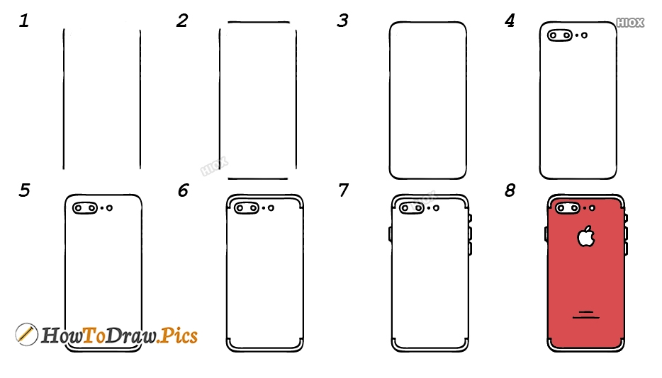 How To Draw An Apple Phone